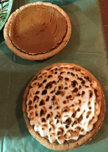 Sweet Potato Bourbon Meringue Pie